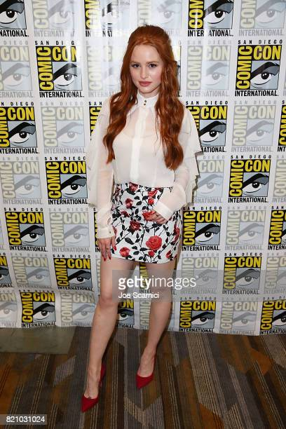 Madelaine Petsch arrives at the 'Riverdale' press line at ComicCon International 2017 on July 22 2017 in San Diego California