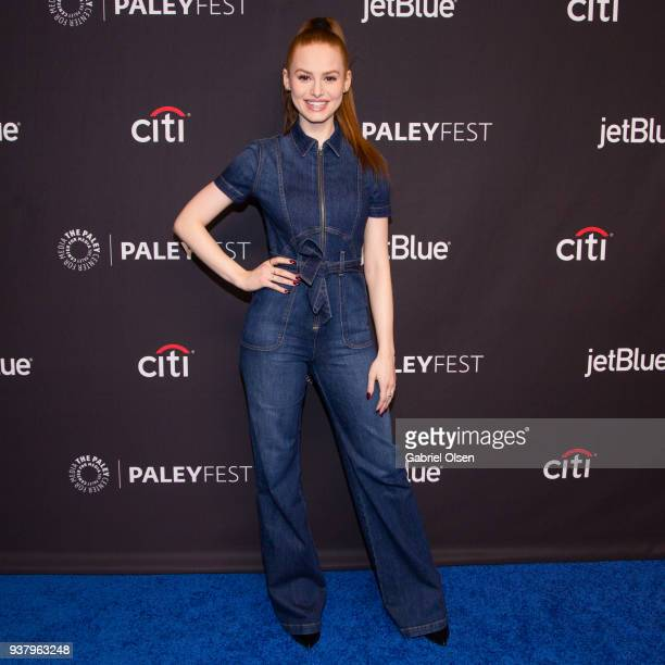 Madelaine Petsch arrives for the 2018 PaleyFest Los Angeles CW's 'Riverdale' at Dolby Theatre on March 25 2018 in Hollywood California