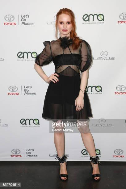 Madelaine Petsch at the Environmental Media Association's 27th Annual EMA Awards at Barkar Hangar on September 23 2017 in Santa Monica California