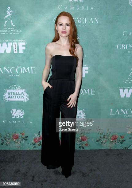 Madelaine Petsch attends the 11th annual celebration of the 2018 female Oscar nominees presented by Women in Film at Crustacean on March 2 2018 in...