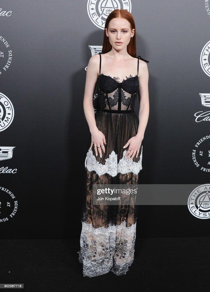 Madelaine Petsch attends The Art Of Elysium's 11th Annual Celebration - Heaven at Barker Hangar on January 6, 2018 in Santa Monica, California.