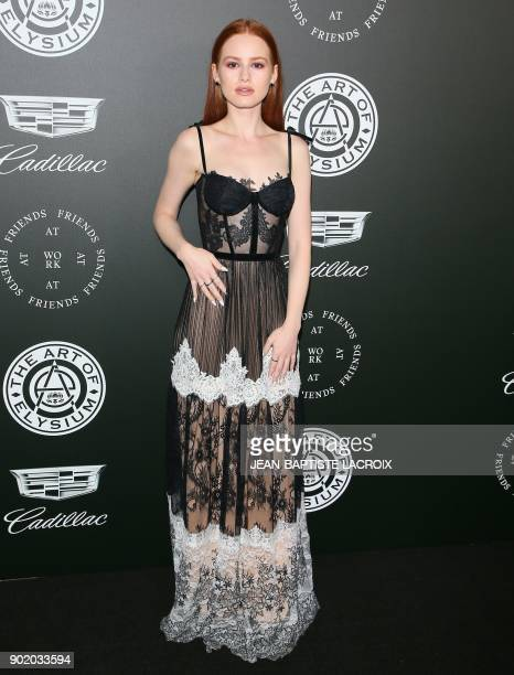 Madelaine Petsch attends the Art of Elysium's 11th annual Heaven Gala in Santa Monica California on January 6 2018 / AFP PHOTO / JeanBaptiste LACROIX