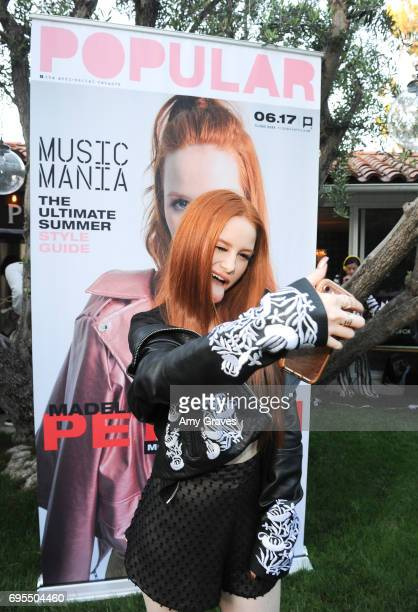 Madelaine Petsch attends the Popular X Wildfox Cover Launch Event For Madelaine Petsch in Los Angeles on June 12 2017 in Los Angeles California