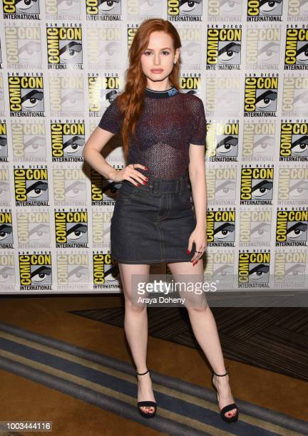 Madelaine Petsch attends the 'Riverdale' Press Line during Comic-Con International 2018 at Hilton Bayfront on July 21, 2018 in San Diego, California.