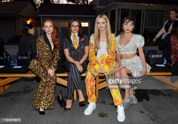 Madelaine Petsch Camila Mendes Kathryn Newton and Rowan Blanchard attend the Moschino Spring/Summer 20 Menswear and Women's Resort Collection at...