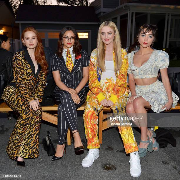 Madelaine Petsch Camila Mendes Kathryn Newton and Rowan Blanchard attend the Moschino Spring/Summer 20 Menswear and Women's Resort Collection party...
