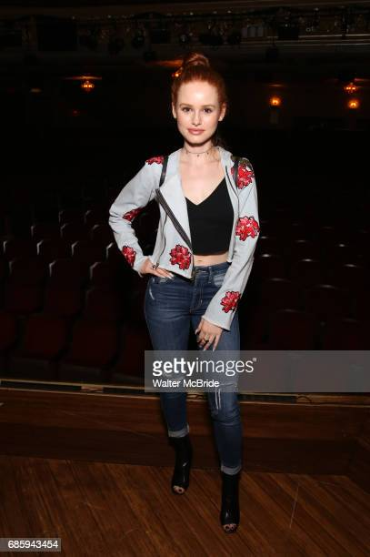 Madelaine Petsch from the cast of 'Riverdale' visits Broadway's 'Bandstand' at the Bernard Jacobs Theate on May 19 2017 in New York City