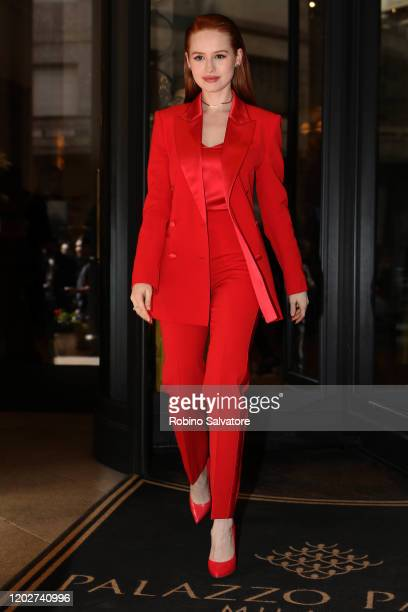 Madelaine Petsch is seen during Milan Fashion Week Fall/Winter 20202021 on February 23 2020 in Milan Italy