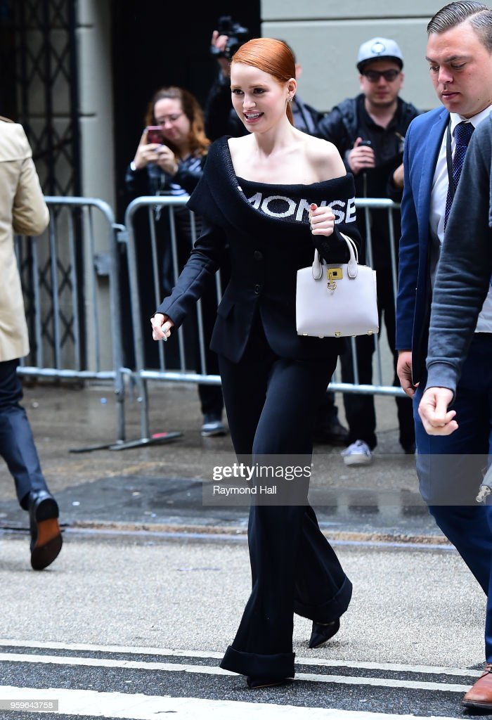 Madelaine Petsch is seen walking in midtown on May 17, 2018 in New York City.