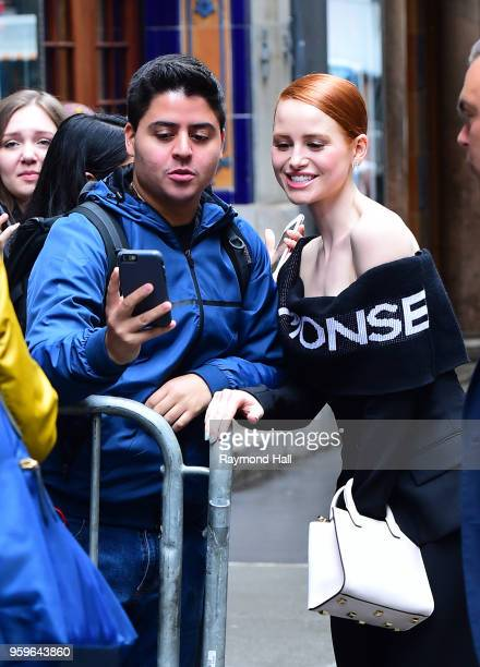 Madelaine Petsch is seen walking in midtown on May 17 2018 in New York City