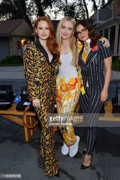 Madelaine Petsch Kathryn Newton and Camila Mendes attend the Moschino Spring/Summer 20 Menswear and Women's Resort Collection at Universal Studios...