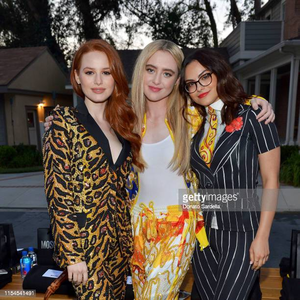 Madelaine Petsch Kathryn Newton and Camila Mendes attend the Moschino Spring/Summer 20 Menswear and Women's Resort Collection party at Universal...