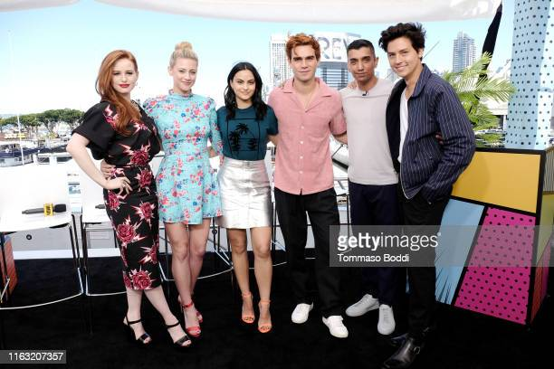 Madelaine Petsch Lili Reinhart Camila Mendes KJ Apa Tim Kash and Cole Sprouse attend the #IMDboat at San Diego ComicCon 2019 Day Three at the IMDb...