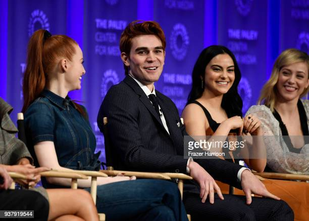 Madelaine PetschKJ ApaCamila MendesLili Reinhart attend The Paley Center For Media's 35th Annual PaleyFest Los Angeles Riverdale at Dolby Theatre on...