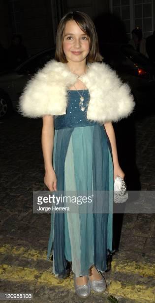 Madelaine RakicPlatt during Terry Pratchett's Hogfather TV Premiere Outside Arrivals at Curzon Mayfair in London Great Britain