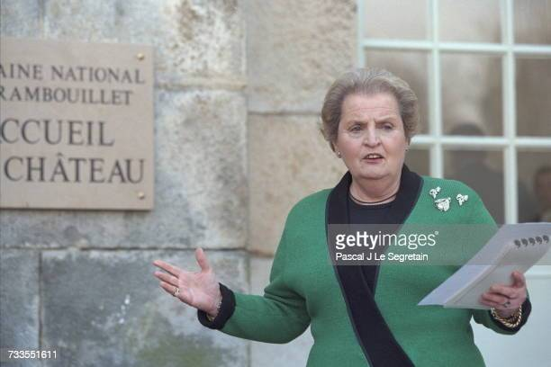 Madeleine Albright at the Chateau de Rambouillet
