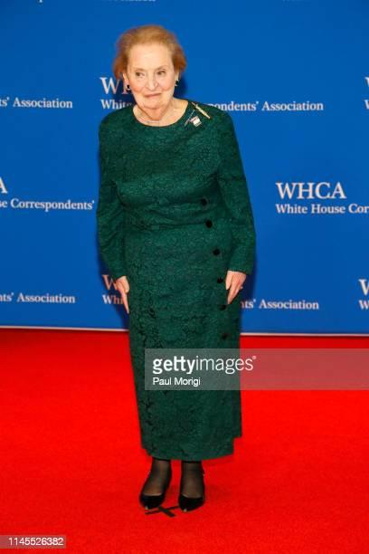 Madeleine Albright attends the 2019 White House Correspondents' Association Dinner at Washington Hilton on April 27 2019 in Washington DC