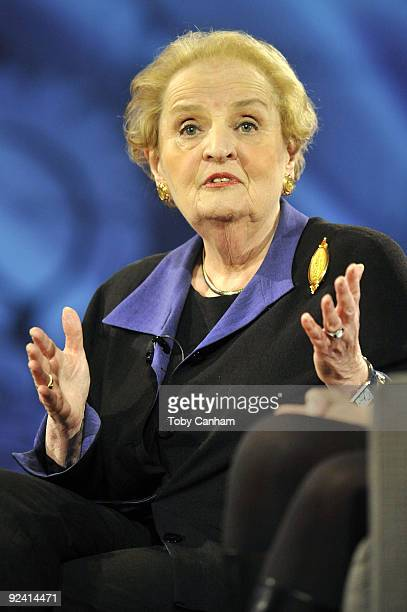 Madeleine Albright participates in a panel discussion at the 2009 Women's Conference held at Long Beach Convention Center on October 27 2009 in Long...
