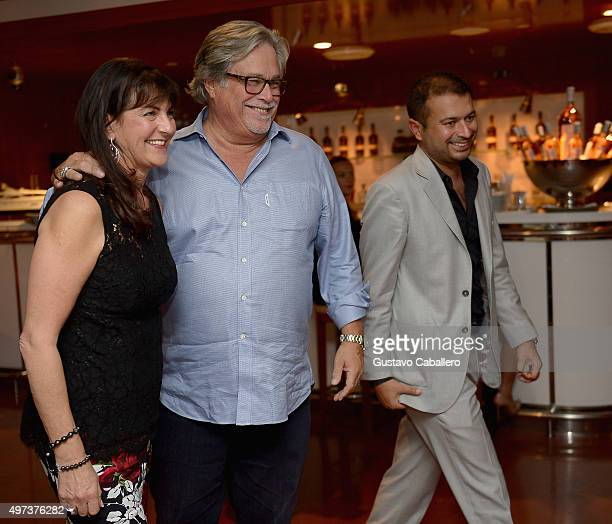 Madeleine ArisonMicky Arison and Kamal Hotchandan attends the Haute Living Celebrates Amar'e Stoudemire's Birthday at Cipriani Downtown Miami on...