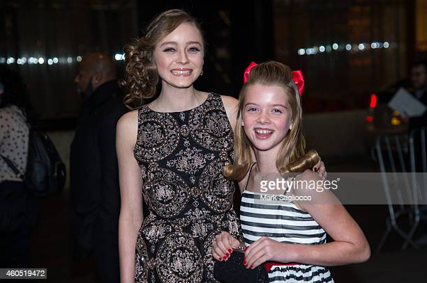 """Madeleine Arthur and Delaney Raye attend the """"Big Eyes"""" New York Premiere at the Museum of Modern Art on December 15, 2014 in New York City."""