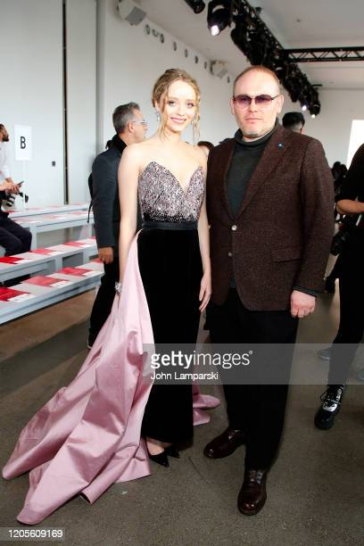 Madeleine Arthur and Vital Agibalow attend the Bibhu Mohapatra fashion show during February 2020 - New York Fashion Week: The Shows at Gallery II at...