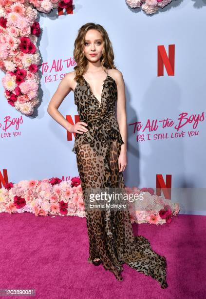 Madeleine Arthur attends the premiere of Netflix's 'To All the Boys PS I Love You' at The Egyptian Theatre on February 03 2020 in Los Angeles...
