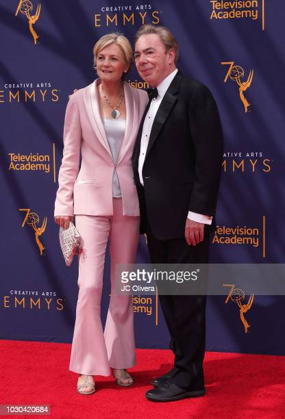 Madeleine Gurdon and Andrew Lloyd attend the 2018 Creative Arts Emmy Awards at Microsoft Theater on September 9 2018 in Los Angeles California