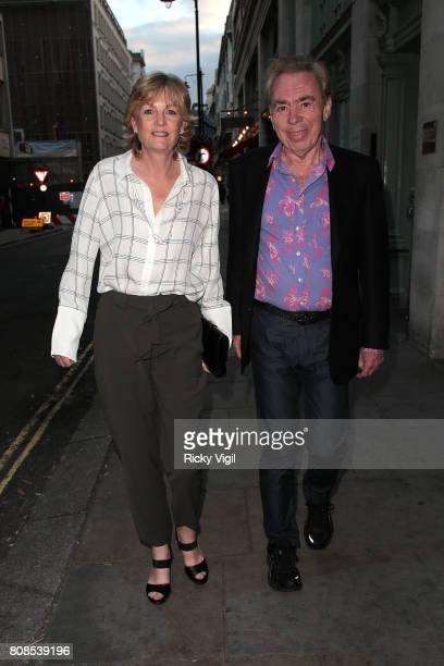 Madeleine Gurdon and Andrew Lloyd Webber attend First Access Entertainment summer party at Tramp on July 4 2017 in London England