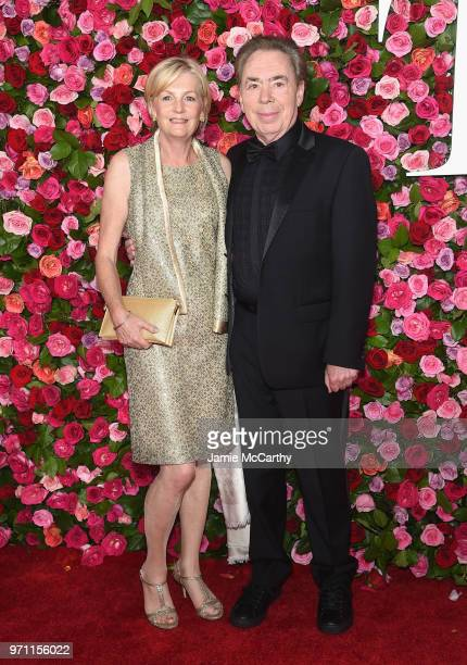 Madeleine Gurdon and Andrew Lloyd Webber attend the 72nd Annual Tony Awards at Radio City Music Hall on June 10 2018 in New York City