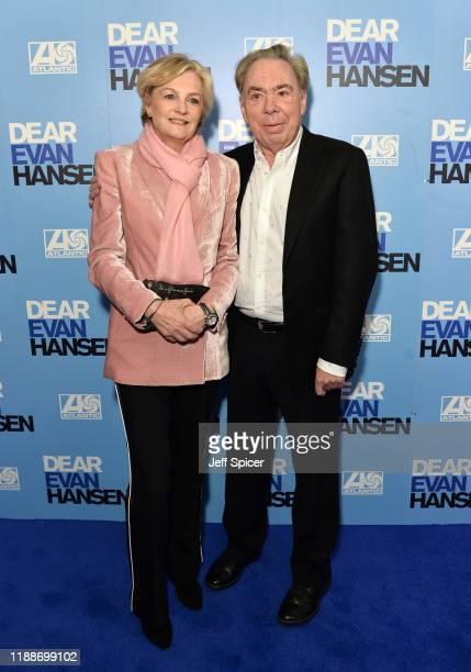 Madeleine Gurdon and Andrew Lloyd Webber attend the Dear Evan Hansen opening night at the Noel Coward Theatre on November 19 2019 in London England