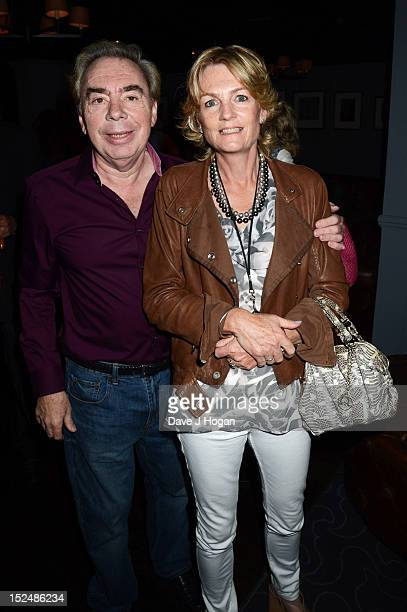 Madeleine Gurdon and Andrew Lloyd Webber attend the press night for Jesus Christ Superstar the arena tour at The O2 Arena on September 21 2012 in...