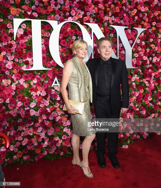 Madeleine Gurdon and Andrew Lloyd Webber attends the 72nd Annual Tony Awards at Radio City Music Hall on June 10 2018 in New York City