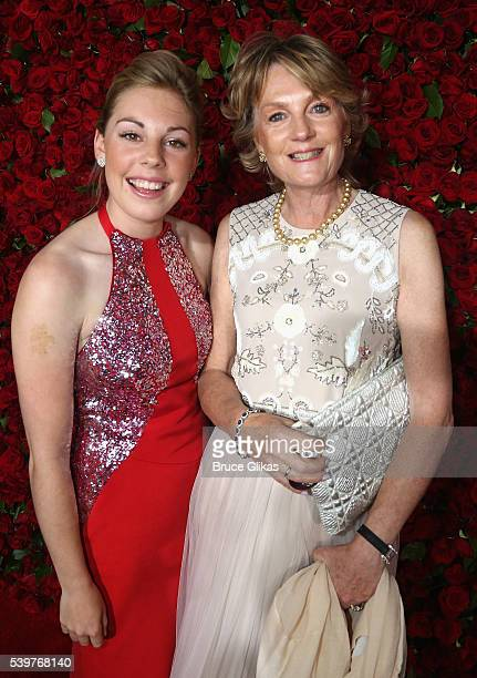 Madeleine Gurdon and Isabella Lloyd Webber attend the 70th Annual Tony Awards Arrivals at Beacon Theatre on June 12 2016 in New York City