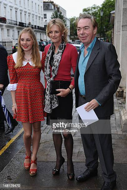 Madeleine Gurdon Sir Andrew Lloyd Webber and his daughter Isabella Lloyd Webber attend a summer party hosted by Sir David Frost at Royal Hospital...