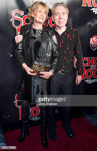 Madeleine Lloyd Webber and Andrew Lloyd Webber attend School Of Rock Broadway Opening Night at Winter Garden Theatre on December 6 2015 in New York...
