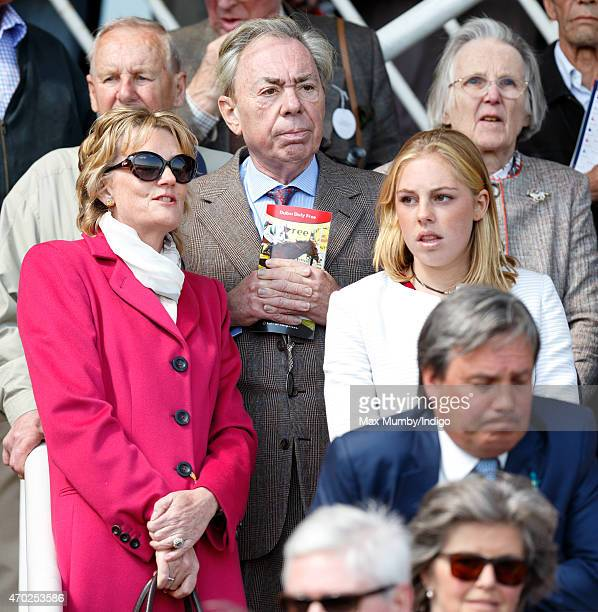 Madeleine Lloyd Webber Andrew Lloyd Webber and Isabella Lloyd Webber watch their horse 'Jellicle Ball' run in the Dubai Duty Free Stakes at the Dubai...