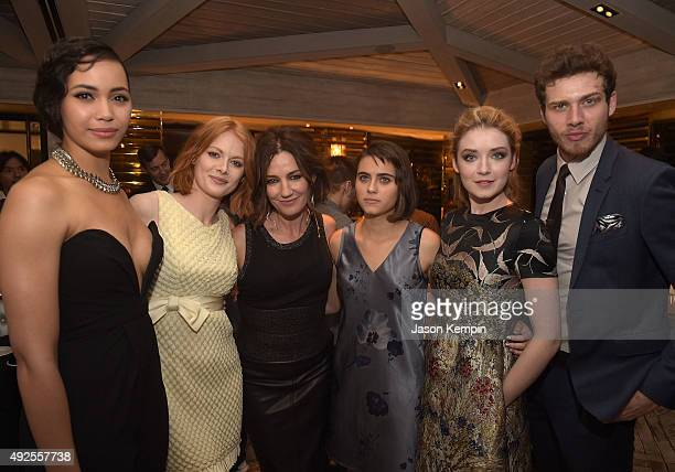 Madeleine Mantock Emily Beecham Orla Brady Ally Ioannides Sarah Bolger and Oliver Stark attend the after party for the screening of AMC's 'Into The...