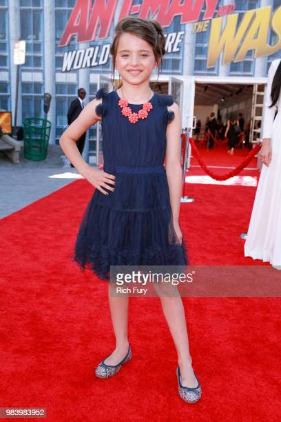 Madeleine McGraw attends the premiere of Disney And Marvel's 'AntMan And The Wasp' on June 25 2018 in Hollywood California