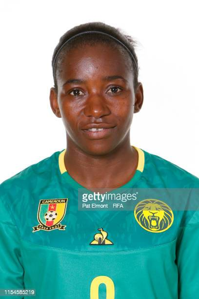 Madeleine Ngono Mani of Cameroon poses for a portrait during the official FIFA Women's World Cup 2019 portrait session at Crowne Plaza Montpellier...