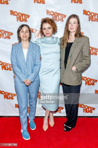 Madeleine Olnek Amy Seimetz and Kate Lyn Shiel attend the Rooftop Films Spring Gala at St Bart's church on April 08 2019 in New York City