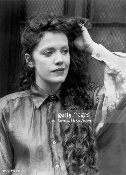 """Madeleine Potter, Half-Length Publicity Portrait for the Film, """"Slaves of New York"""", Tri-Star Pictures, 1989."""