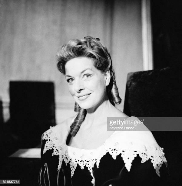 Madeleine Robinson dans une scène de la pièce de Molière pendant la répétion générale à Paris France le 9 février 1961