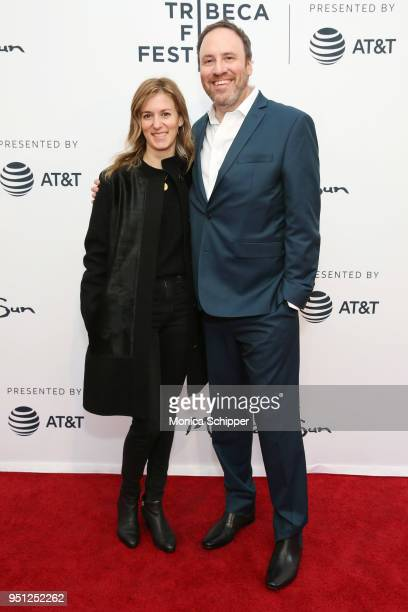 Madeleine Sackler and Andrew Hollander attend the screening of It's A Hard Truth Ain't It during the 2018 Tribeca Film Festival at SVA Theatre on...