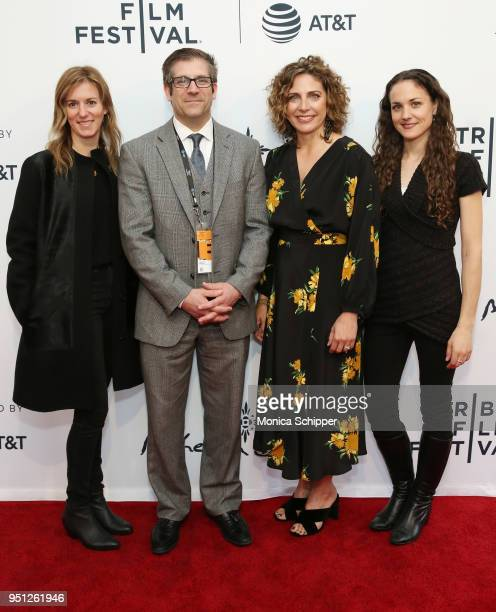 Madeleine Sackler Sean Pica Stacey Reiss and Leigh Johnson attend the screening of It's A Hard Truth Ain't It during the 2018 Tribeca Film Festival...