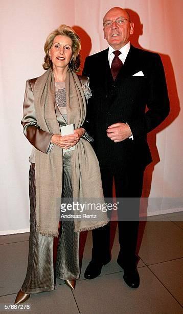 Madeleine Schickedanz majority shareholder of German department store corporation KarstadtQuelle and her husband Leo Herl attend the 125 Year Jubilee...