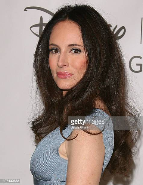 Madeleine Stowe arrives at the Disney ABC Television Group's 'TCA 2001 Summer Press Tour' at the Beverly Hilton Hotel on August 7 2011 in Beverly...