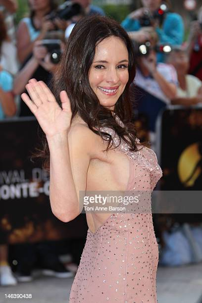 Madeleine Stowe arrives at the Golden Nymph Award during the 52nd Monte Carlo TV Festival Closing Ceremony on June 14 2012 in MonteCarlo Monaco
