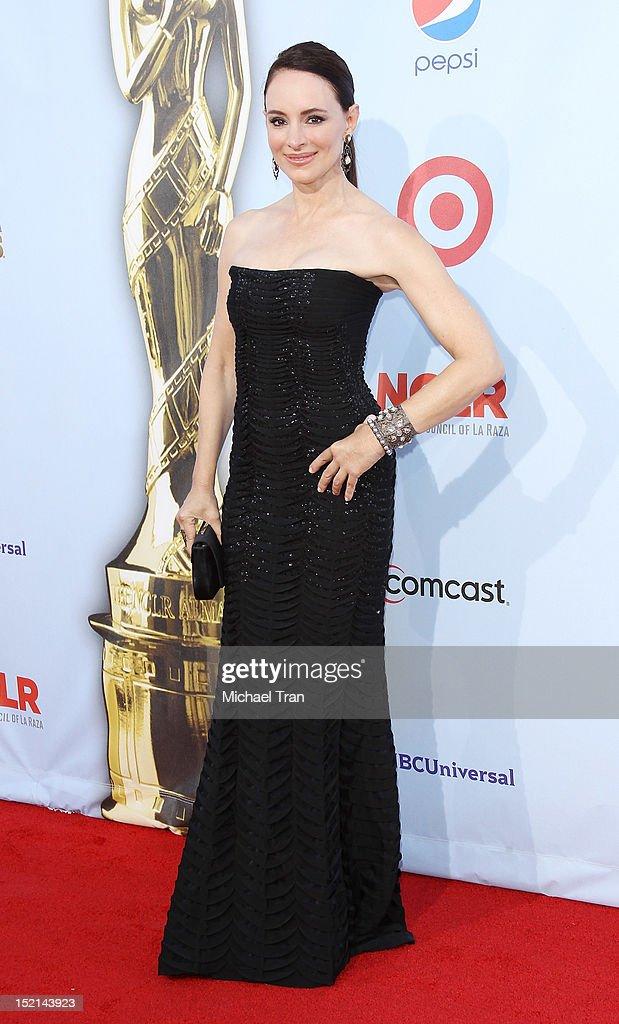 Madeleine Stowe arrives at the NCLR 2012 ALMA Awards held at Pasadena Civic Auditorium on September 16, 2012 in Pasadena, California.