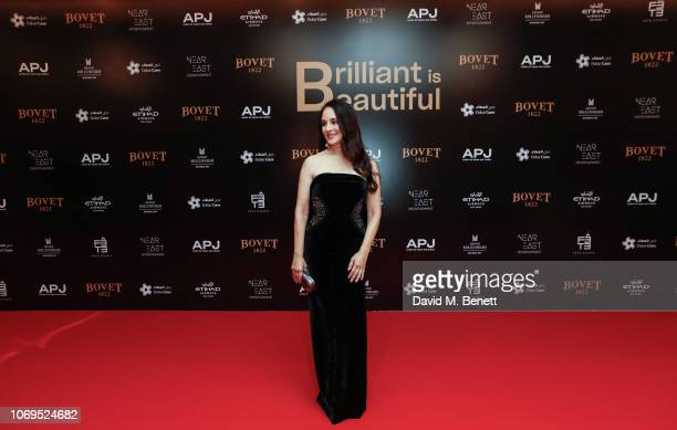 Madeleine Stowe attends the Artists for Peace and Justice Bovet 1822 Gala on December 7 2018 in Dubai United Arab Emirates Photo by David M...