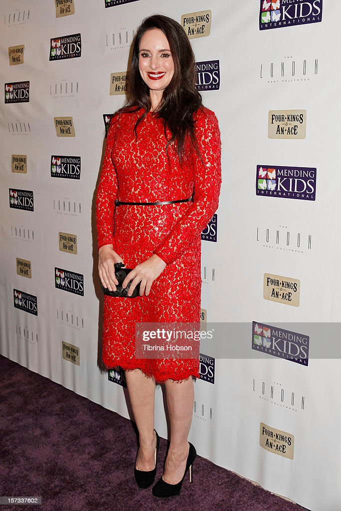 Madeleine Stowe attends the Mending Kids International celebrity poker tournament at The London Hotel on December 1, 2012 in West Hollywood, California.